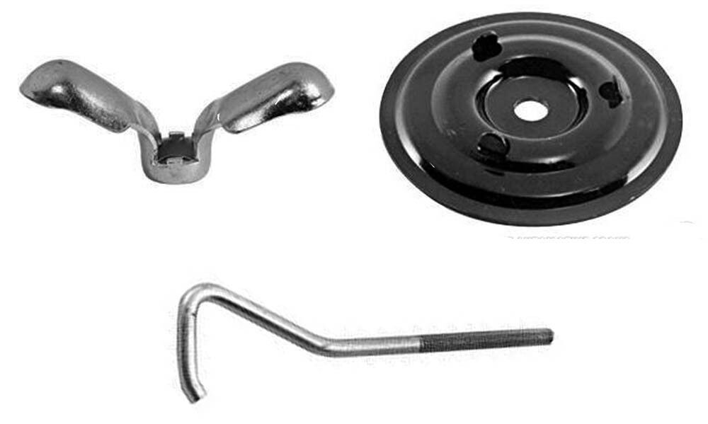 new 1965 1968 ford mustang spare tire mounting kit nut plate j bolt 3 pc kit ebay. Black Bedroom Furniture Sets. Home Design Ideas