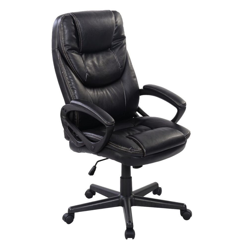 leather high back office chair new task ergonomic computer desk ebay