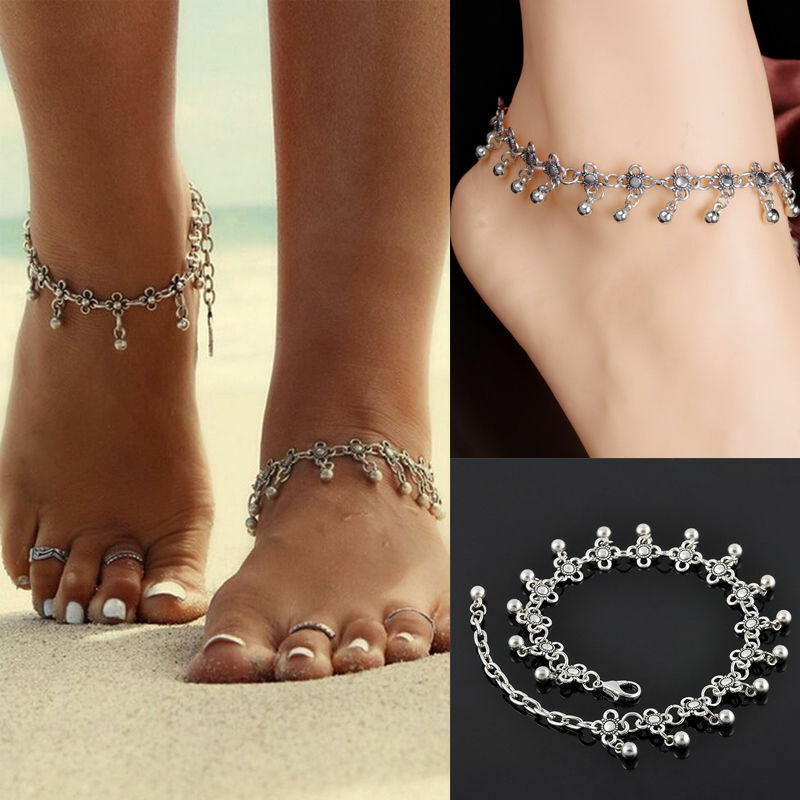 jewelry anklet silver bead chain ankle bracelet