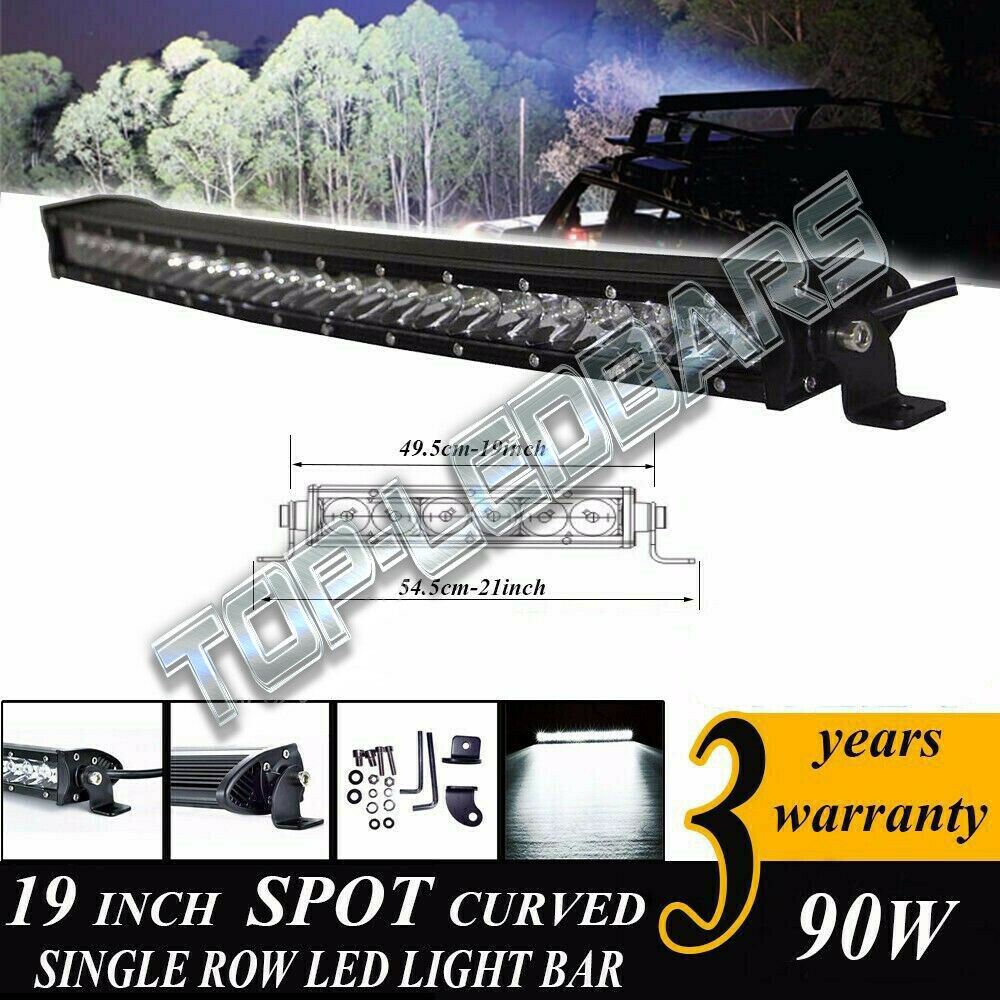 "High Power 200w 20 Inch Jeep Accessories Led Light Bar For: 90W 19"" 10000LM CREE LED CURVED SLIM SINGLE ROW OFF ATV"