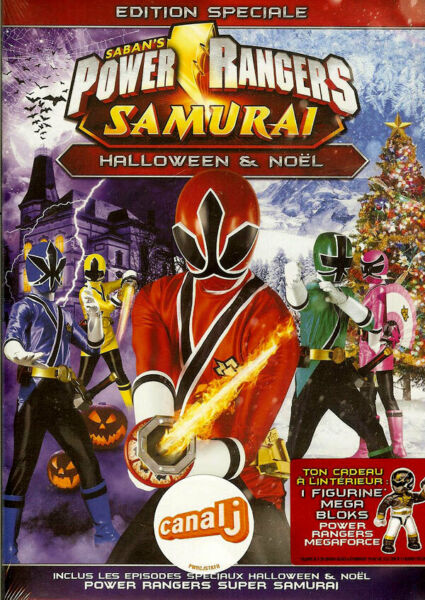POWER RANGERS SAMURAI - HALLOWEEN & NOEL /*/ DVD DESSIN ANIME NEUF/CELLO