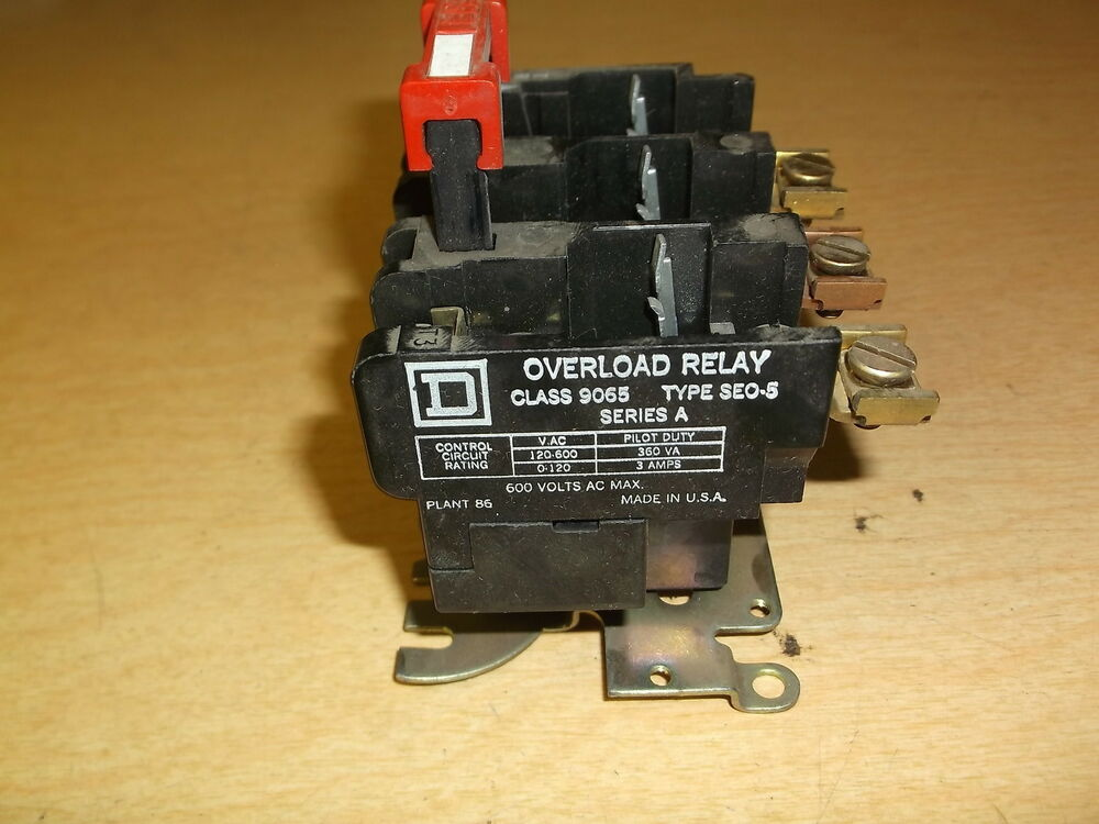 Square D Overload Relay 30072 311-29 311-02B Class 9065 Type SEO-5 Series A | eBay