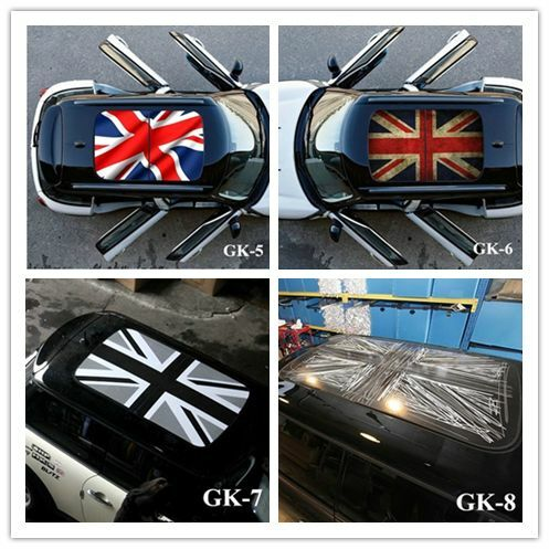 Union Jack Checkerboard Car Moon Room Roof Decoration