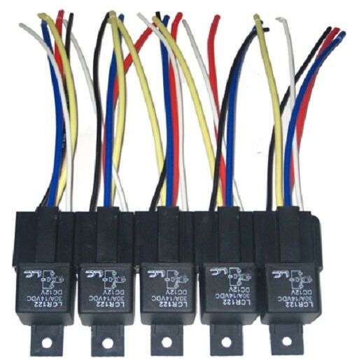 10 pcs 12 volt bosch style spdt 30 amp relays sockets ebay. Black Bedroom Furniture Sets. Home Design Ideas
