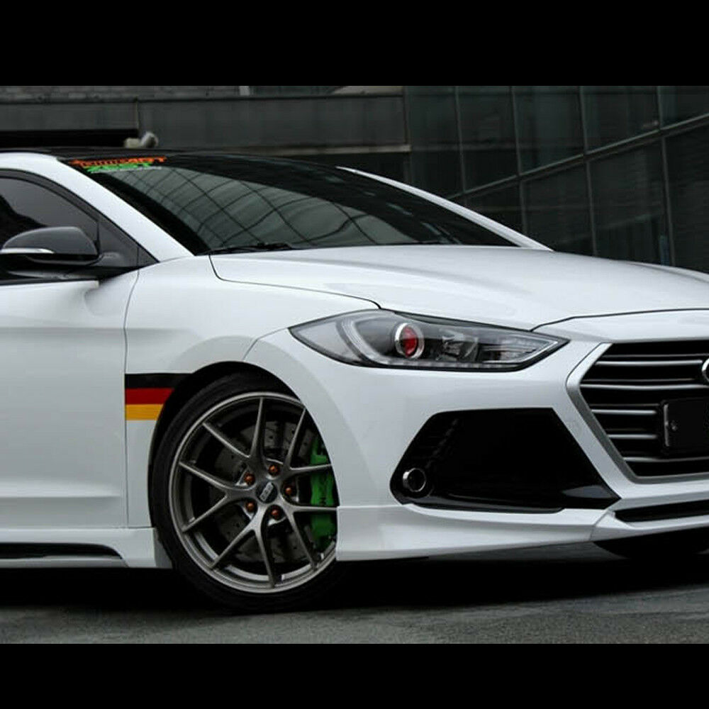 Front+Rear Lip+Side Skirts Body kits Unpainted For Hyundai ...