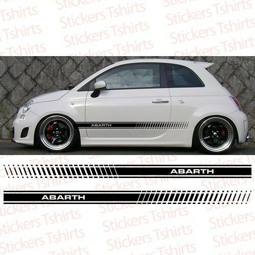 Set Fiat Abarth 500 2011 And Up Racing Stripe Car Decal