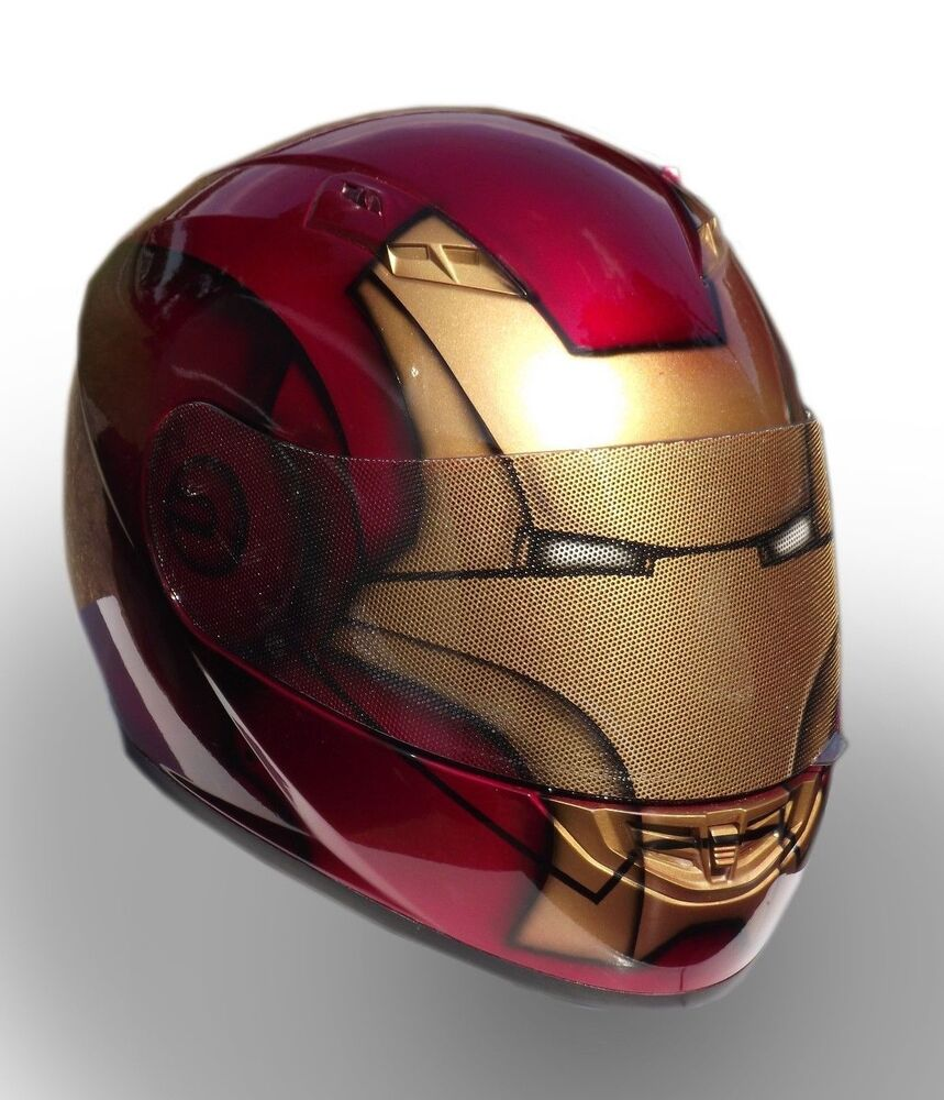 Iron Man Custom Painted Motorcycle Helmet  eBay