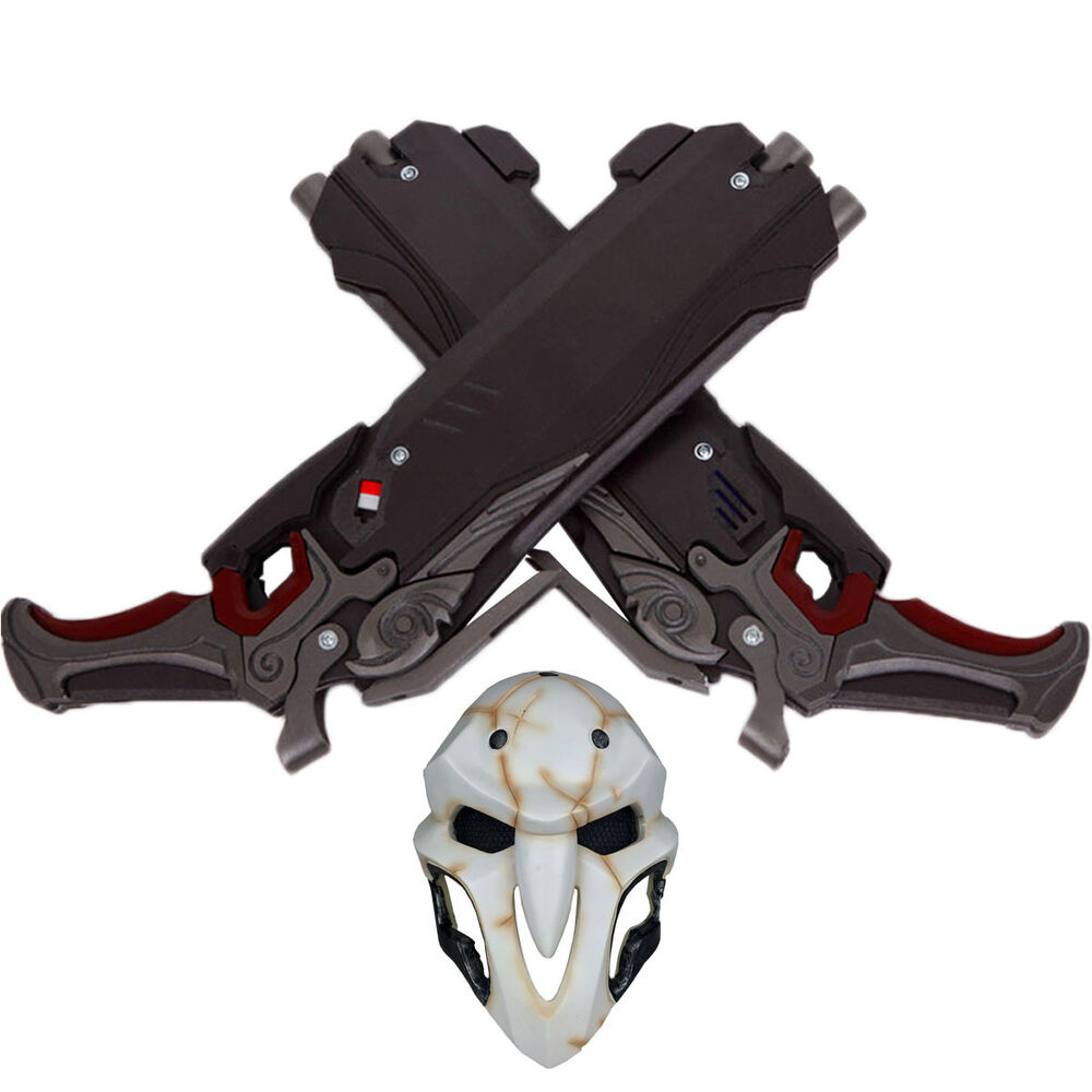 Overwatch PVC Durable Reaper Double Guns Mask Cosplay ...