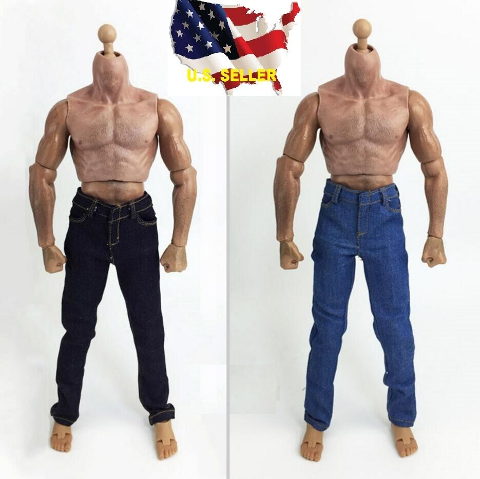 1/6 Male muscular body JXtoys S03 Emulated strong 12