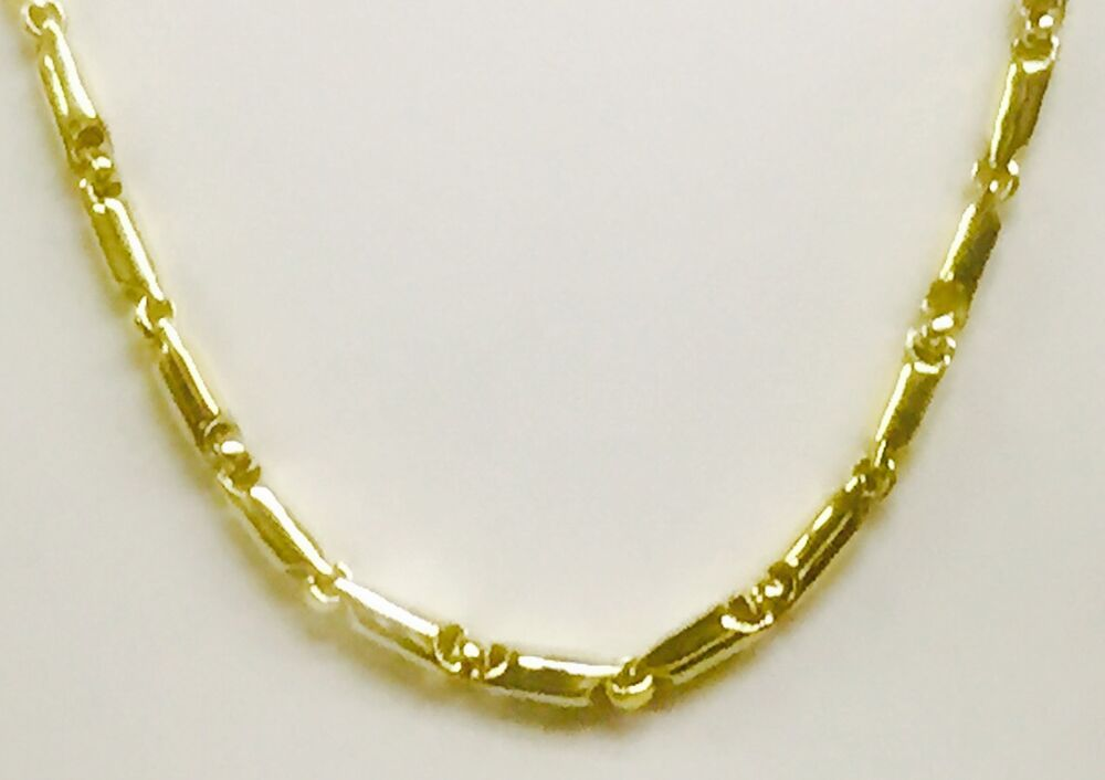 14kt yellow gold heavy handmade link men 39 s chain necklace. Black Bedroom Furniture Sets. Home Design Ideas