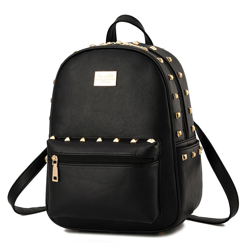 New Women Backpack Shoulder School Bag PU Leather Leisure ...