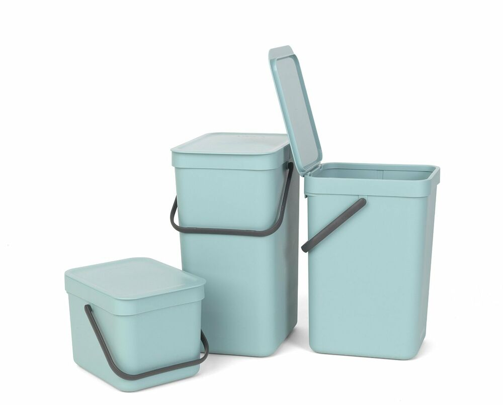 Brabantia Sort & Go Wall Mounted Mint Green Kitchen Waste