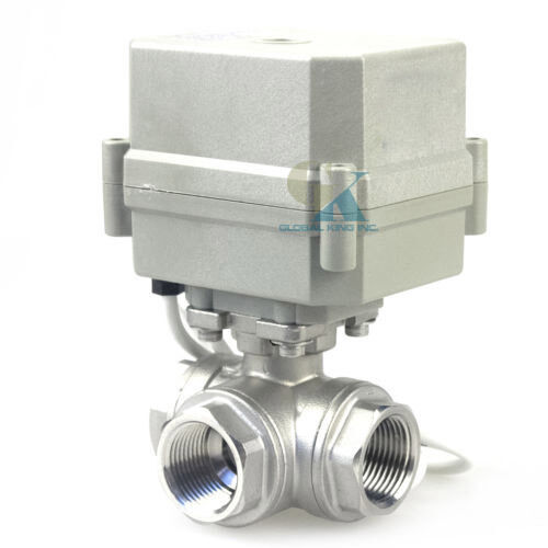 3 Way L Port Stainless 304 Electrical Motorized Ball Valve