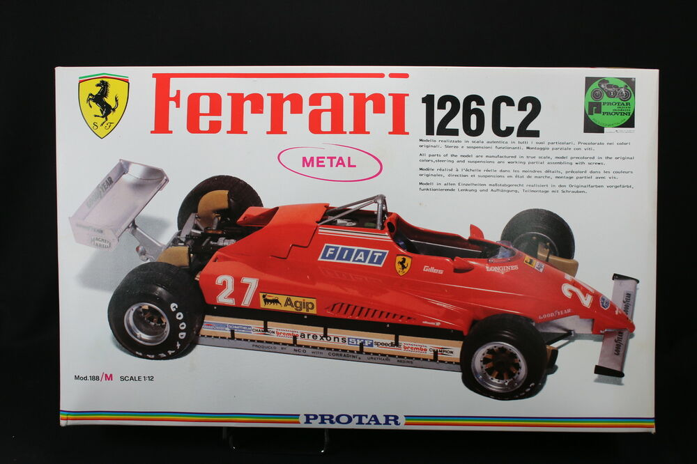 yv058 protar 1 12 maquette voiture 188 m ferrari 126 c2 188 metal villeneuve ebay. Black Bedroom Furniture Sets. Home Design Ideas