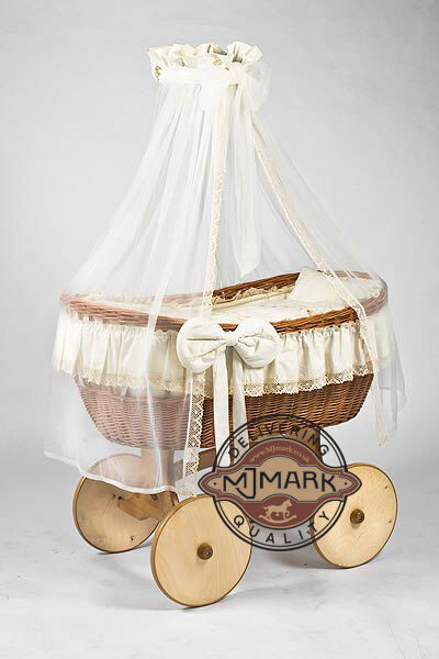 Wicker Crib Moses Basket Stubenwagen Ophelia Cream With