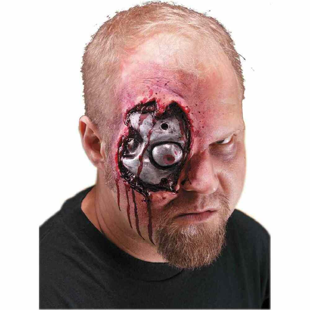 Cyborg Robot Terminator Wound Dress Up Halloween Costume Makeup ...