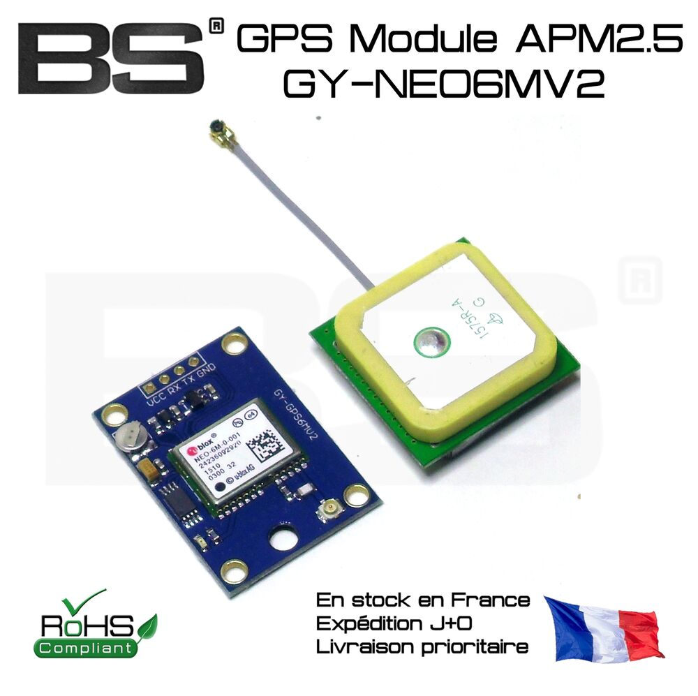 Gy neo mv gps module for flight controller arduino