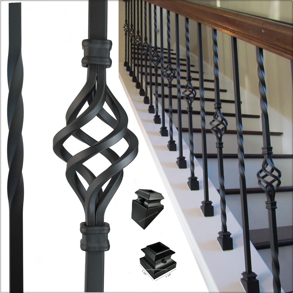High Quality Iron Balusters For Stair Railing Balconies