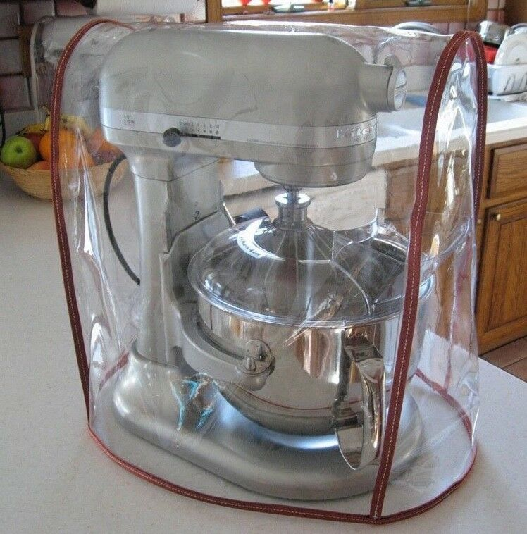 Clear mixer cover fits kitchenaid 6 qt w cinnamon trim for Shamrock stand mixer professional 700w motor