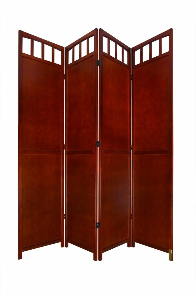 Or panel solid wood room screen divider antique