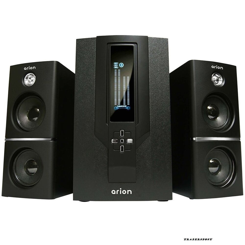 arion legacy 2 1 channel speaker system with subwoofer. Black Bedroom Furniture Sets. Home Design Ideas
