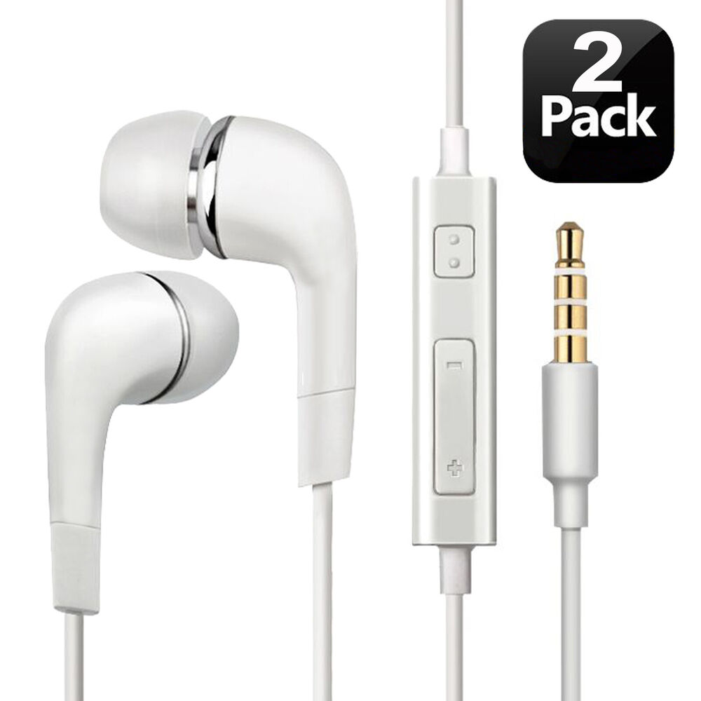 in ear earphones flat headphones extra bass black white with mic earbuds buds ebay. Black Bedroom Furniture Sets. Home Design Ideas