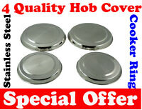 4 Stainless Steel High Quality Hob Covers Cooker Ring Chrome 2x17 cm + 2x21 cm