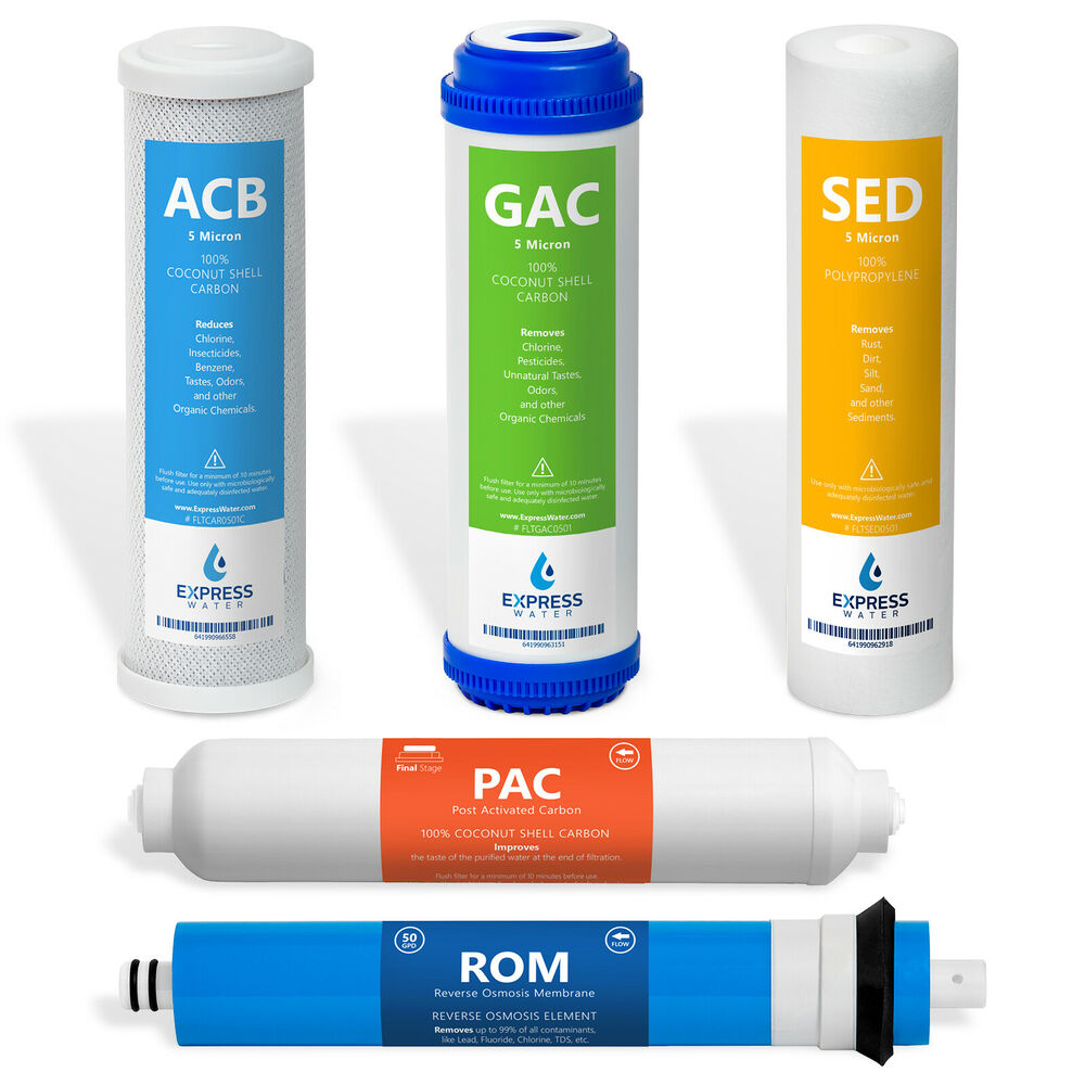 Replacement Filter Set For Standard 5 Stage Reverse