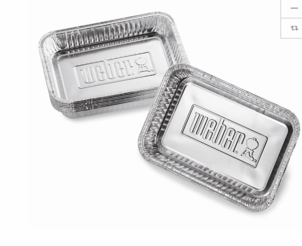 Weber 10 Pack 6 In X 8 625 In Disposable Aluminum Foil