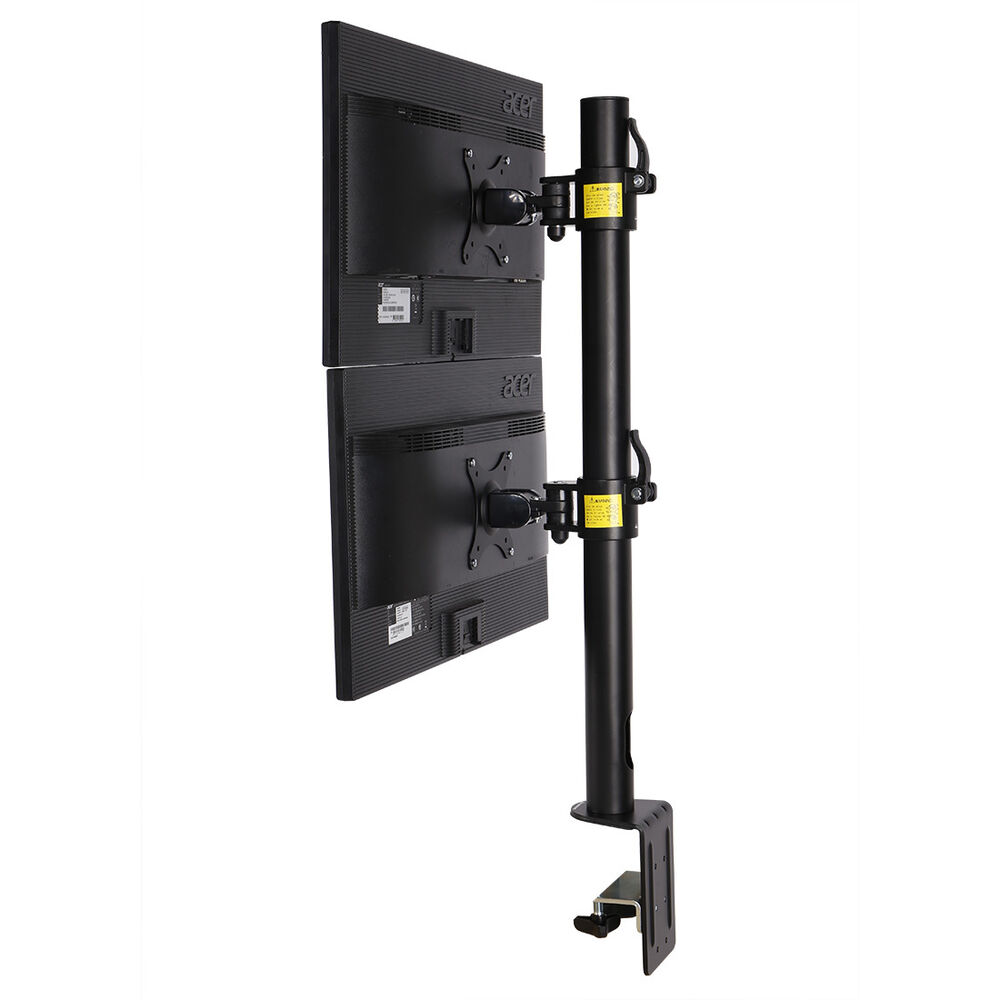 Dual Computer Monitor Desk Mount Stand Vertical Arrary for ...