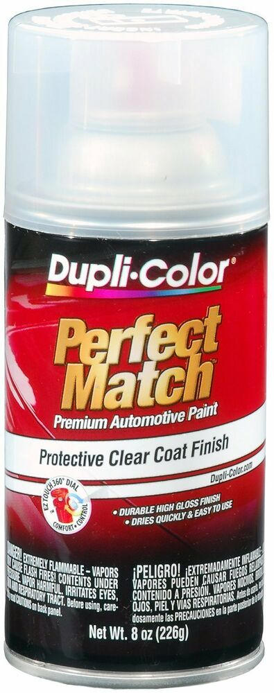 Duplicolor Bcl0125 Perfect Match Clear Top Coat 8 Oz Aerosol Spray Paint Ebay