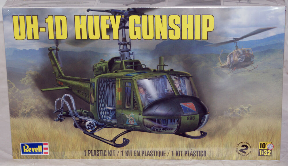 revell uh 32 scale helicopter plastic model kit 5536