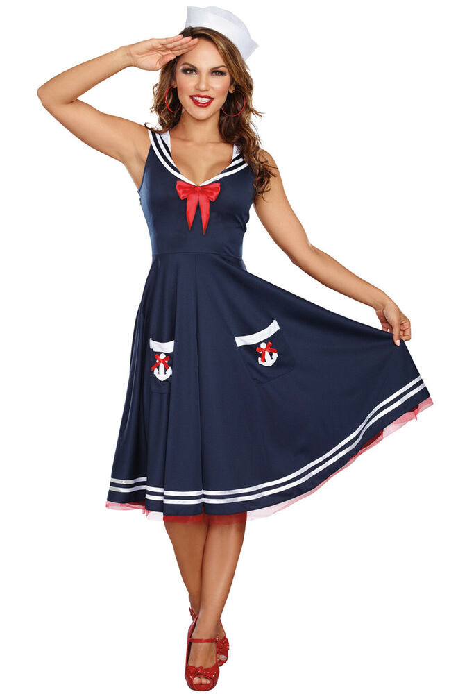 Brand New Retro Pinup Sailor Women All Aboard Plus Size ...