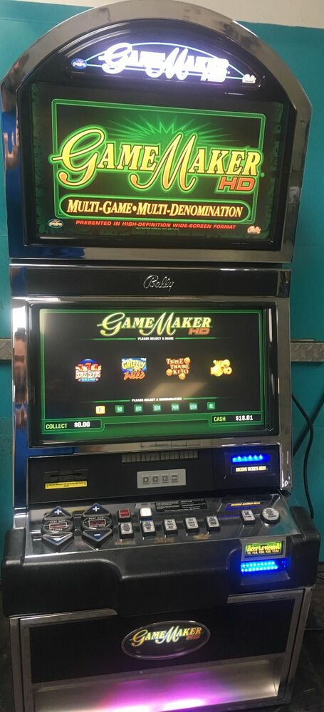 BALLY M9000 SLOT MACHINE GAMEMAKER DUAL LCD SCREEN - eBay