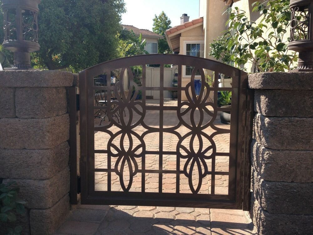 Metal gate custom italian entry walk thru pedestrian