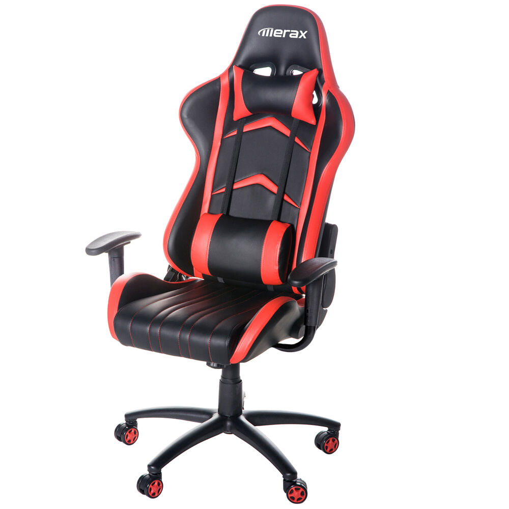 ergonomic office race car seat racing gaming chair executive computer chair red ebay. Black Bedroom Furniture Sets. Home Design Ideas