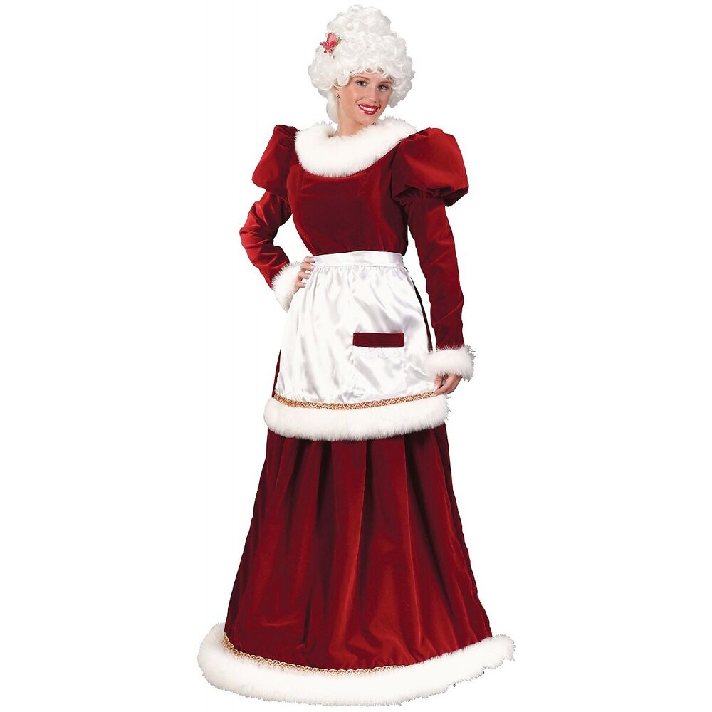960493861b37f Details about Mrs Claus Costume Adult Santa Outfit Christmas Fancy Dress