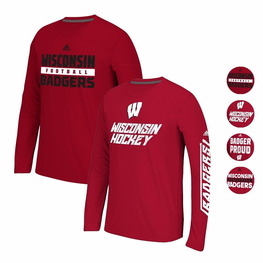 Wisconsin badgers adidas climalite ultimate performance for Wisconsin badgers shirt women s
