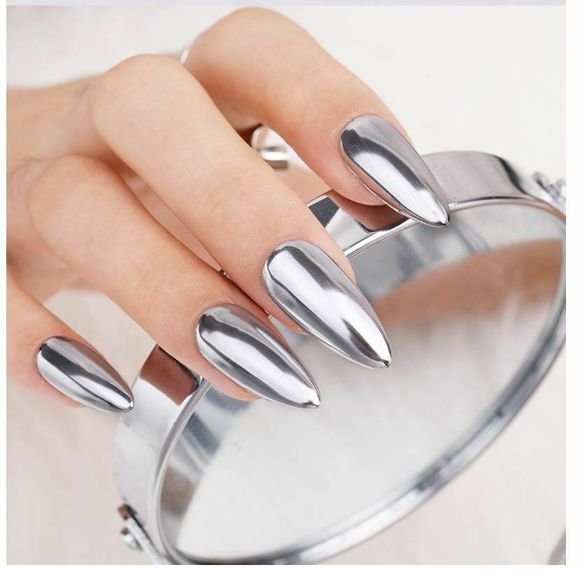 Chrome Nail Powder Cnd: SALE Mirror Chrome Effect Nail Powder No Polish Foil Nails