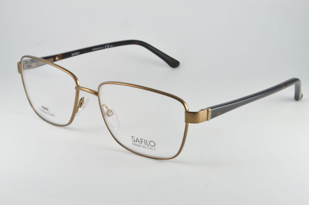 Eyeglass Frames Measurements : Safilo Eyeglasses SA 6000 00LR Light Gold, Size 53-16-135 ...