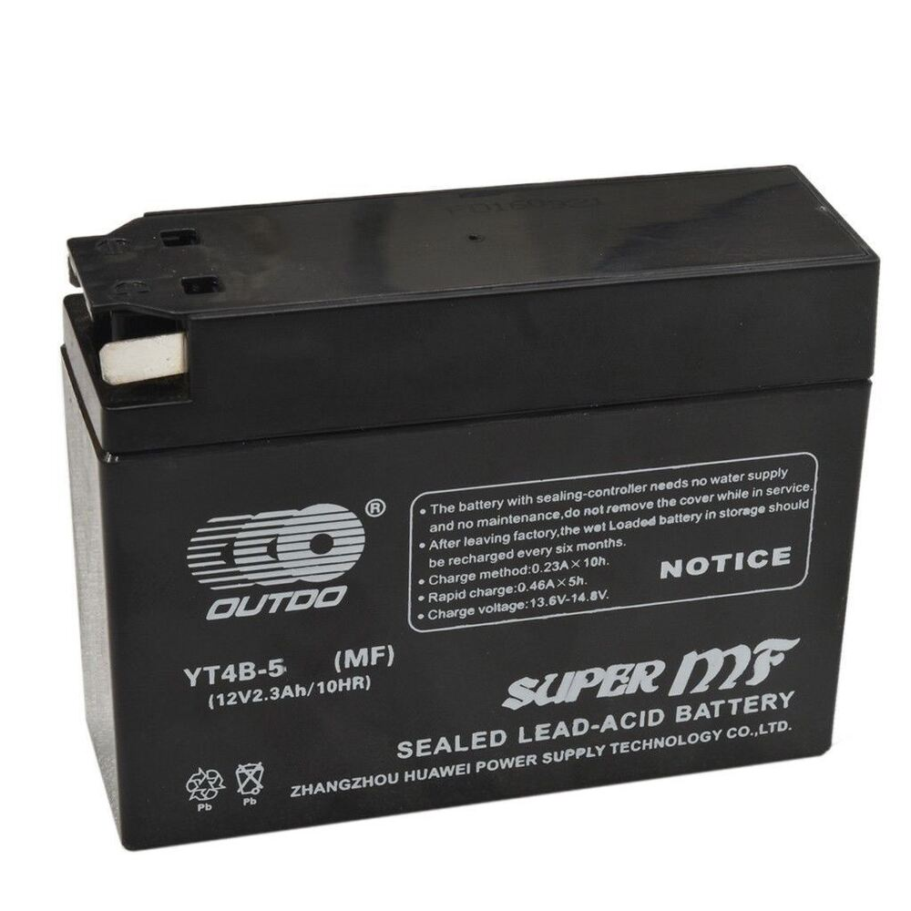 Yt4b bs agm motorcycle battery for yamaha ttr50e suzuki dr for Yamaha motorcycle batteries