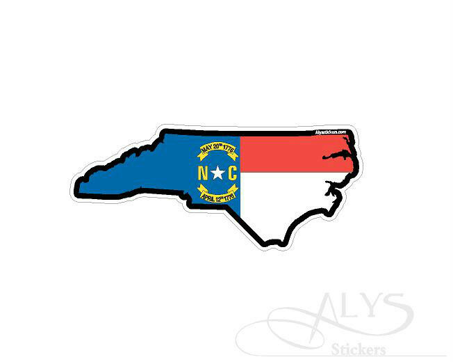 North Carolina State Map Flag Decals Amp Stickers  EBay