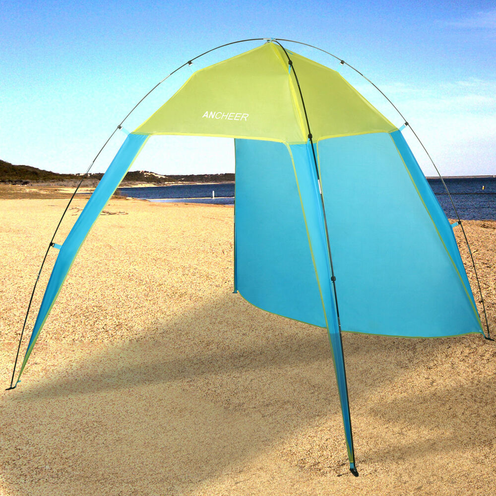 Beach Tent Canopy Shade : Person beach canopy sun shade triangle patchwork tent