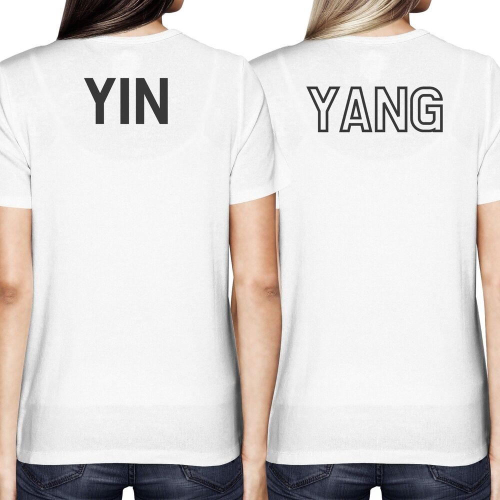 39 asian yin and yang matching best friend bff women 39 s white for Best shirts to print on