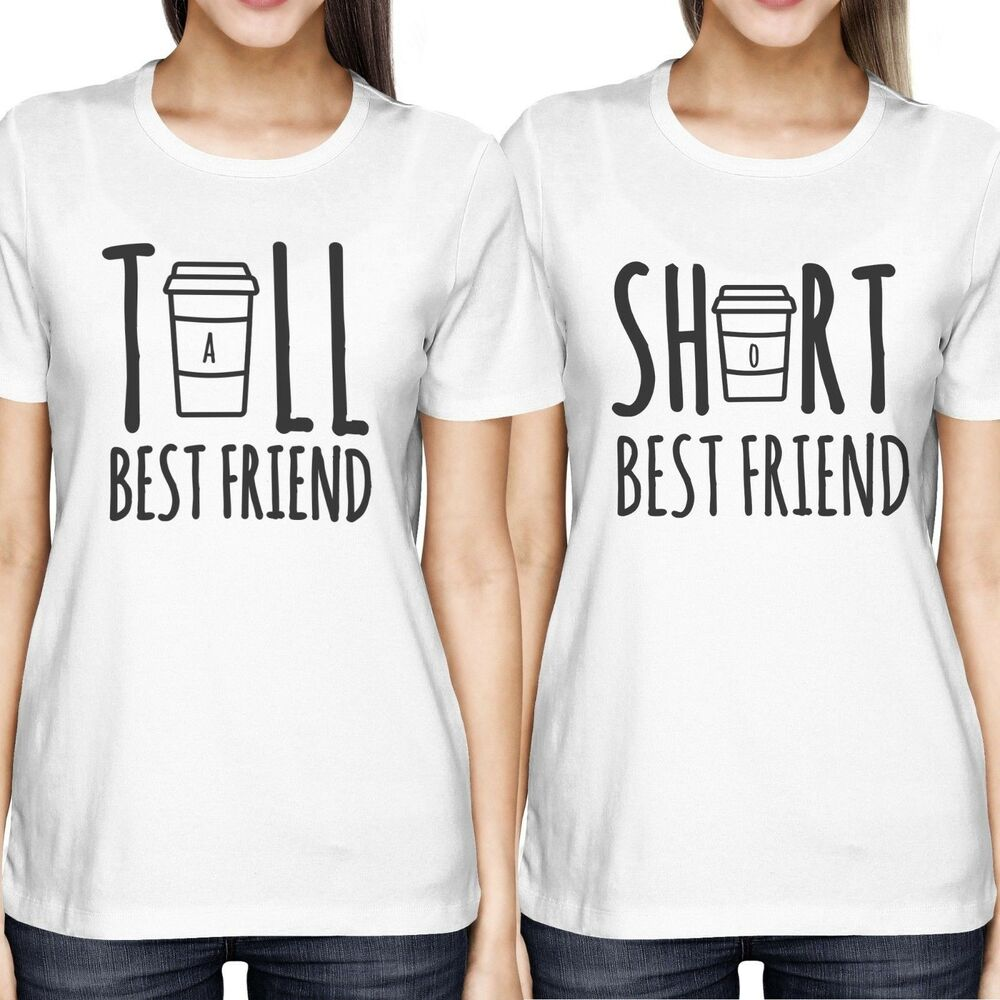 cute best friend tall and short matching tshirt bff