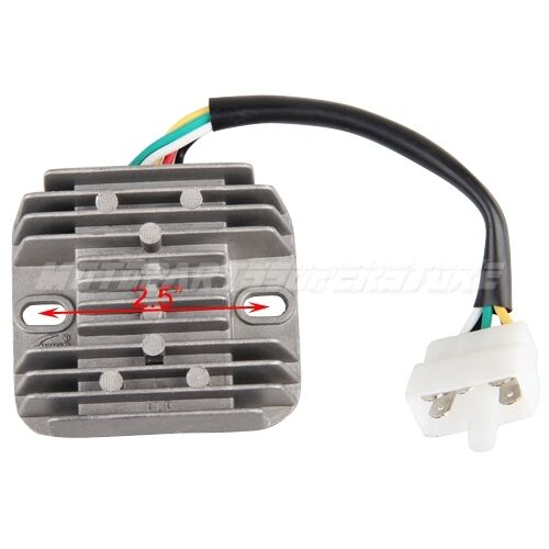 5 pin dc voltage regulator for gy6 150cc scooters ebay. Black Bedroom Furniture Sets. Home Design Ideas