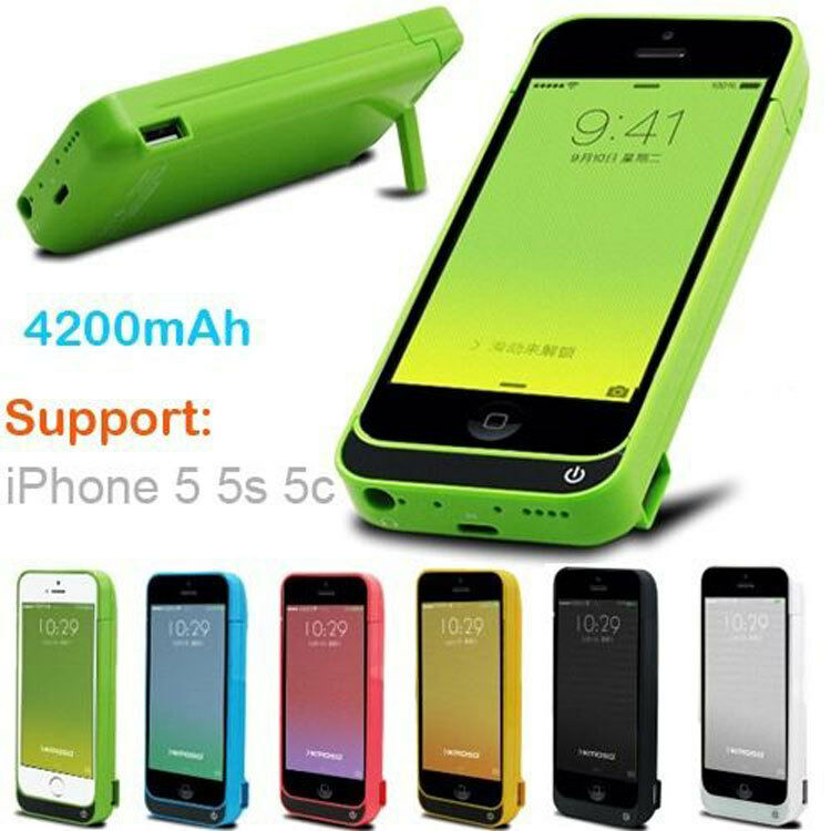 save iphone battery 4200mah external battery backup charger pack power 12914