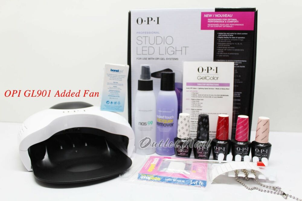 Opi Gelcolor Starter Intro Kit Studio Led Lamp Light Any 3
