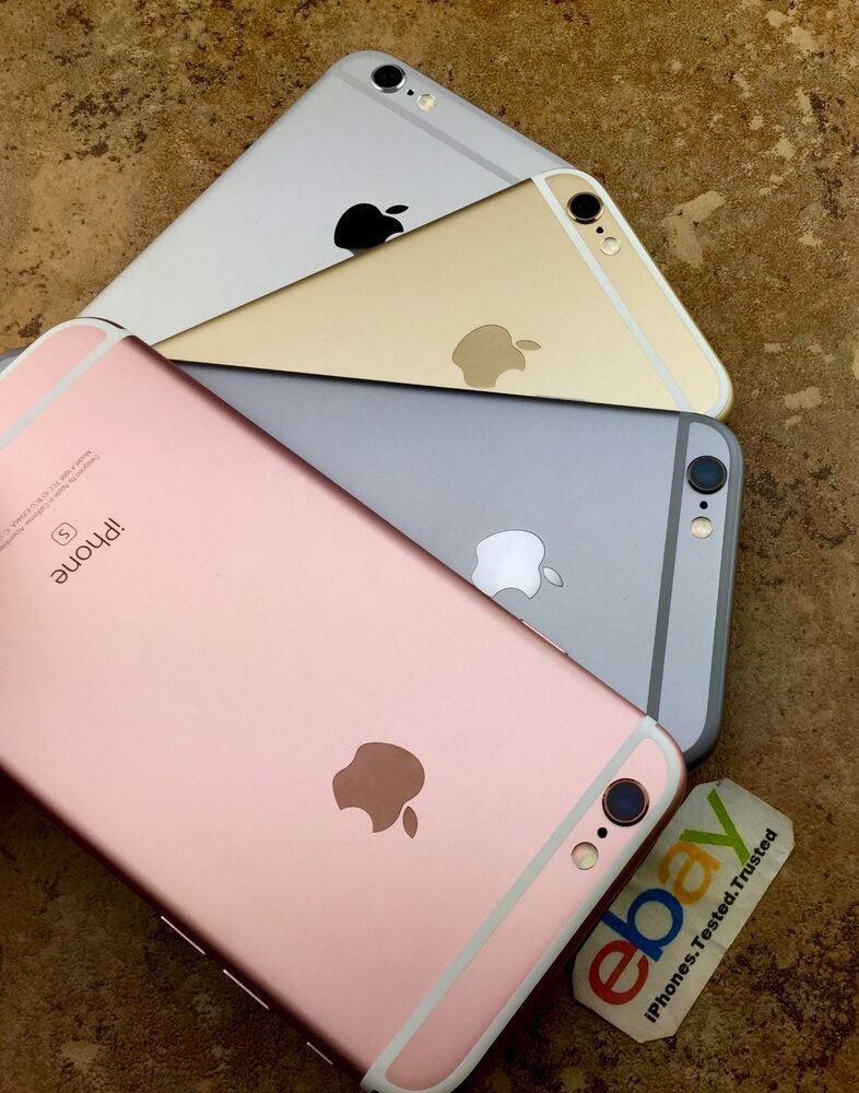 factory unlocked apple iphone 6s rose gold silver space gray att 16 64gb 128gb ebay. Black Bedroom Furniture Sets. Home Design Ideas