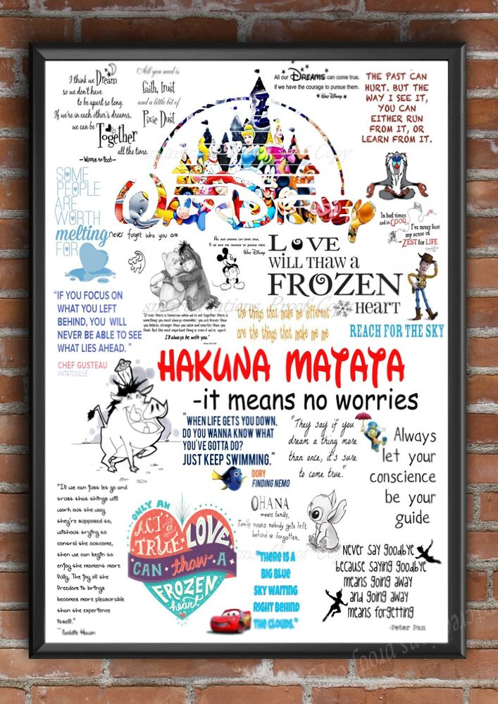 famous disney quotes disney sayings gift school leaving. Black Bedroom Furniture Sets. Home Design Ideas